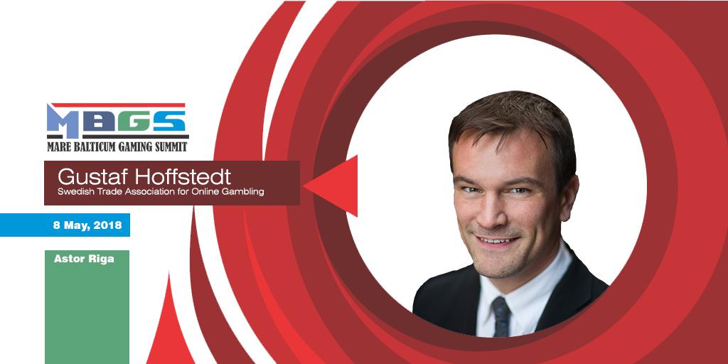 Gustaf Hoffstedt (Secretary General of BOS, the Swedish Trade Association for Online Gambling) speaker at Mare Balticum Gaming Summit 2018